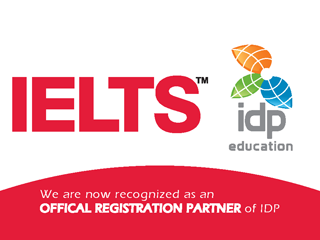 We are now recognized as an OFFICAL REGISTRATION PARTNER of IDP