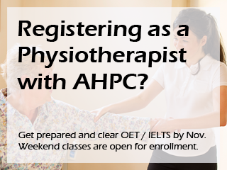 Registering as a Physiotherapist with AHPC?