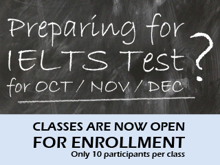 Preparing for IELTS test? Classes are Now Open for Enrollment!
