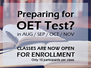 Preparing for OET test? Classes are Now Open for Enrollment!